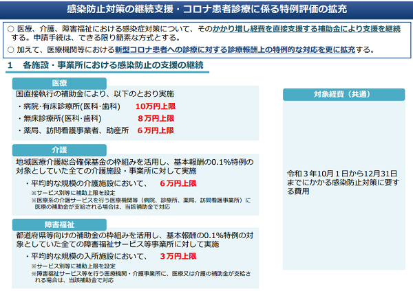 厚生労働省老健局「感染防止対策の継続支援」